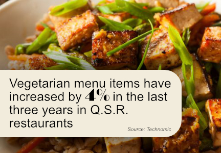 Vegetarian menu items