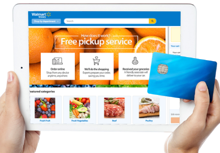 Wal-Mart on-line grocery shopping, e-commerce
