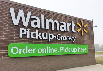 Wal-Mart grocery pickup station - online ordering