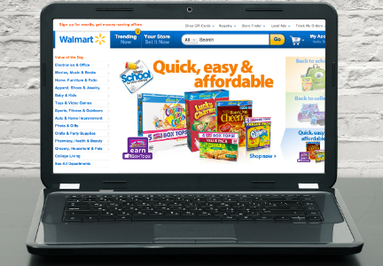 Wal-Mart on-line shopping, e-commerce