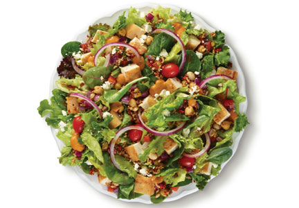 Wendy's Power Mediterranean salad with quinoa