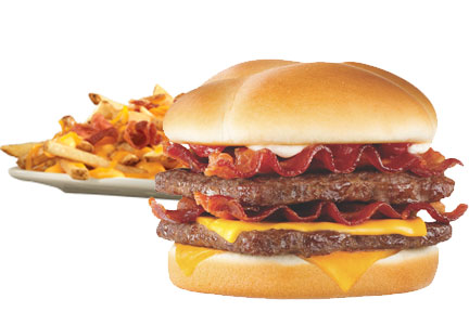 Wendy's Baconator burger and Baconator fries