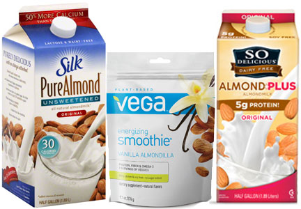 Whitewave plant-based beverages, Silk almond milk, So Delicious almond milk, Vega protein smoothie