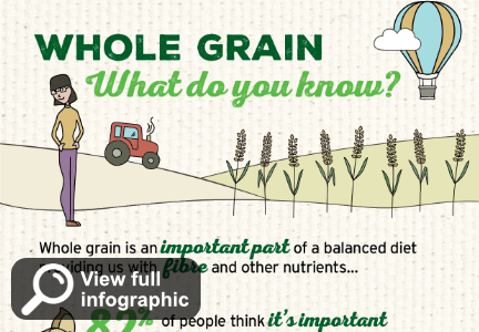 Whole grain infographic