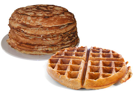 Whole grain waffles and pancakes, General Mills patent