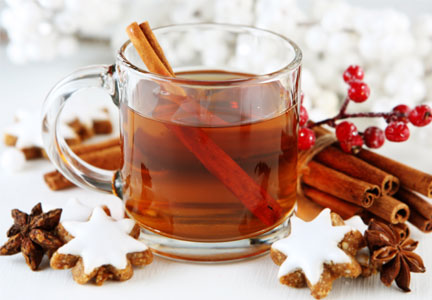 Winter tea, seasonal flavors