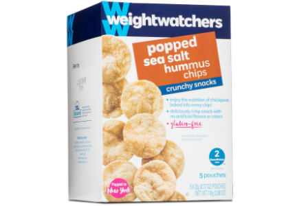Weight Watchers popped hummus chips