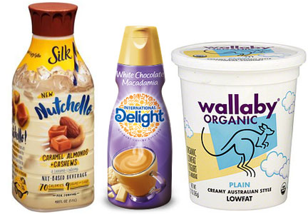 WhiteWave North America products, Silk milk, International Delight coffee creamer, Wallaby Organic yogurt