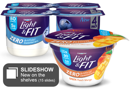Dannon Light & Fit yogurt with no artificial sweeteners