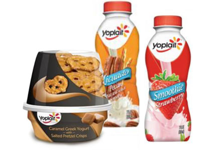Yoplait yogurt beverages and snack cups,  General Mills
