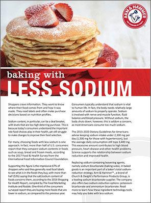 Baking with Less Sodium
