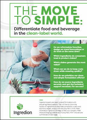Ingredion ezine clean label may21